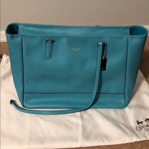 Coach Saffiano Leather East West City Tote